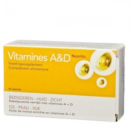 Vit a + d nutritic caps 60 7300