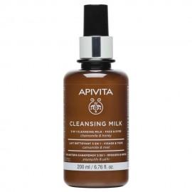 Apivita 3in1 Cleansing Milk Face & Eyes 200ml