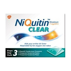 NIQUITIN CLEAR 7 MG PATCH 14PCS