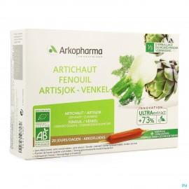 Arkofluide Artichaut Fenouil Bio Amp 20