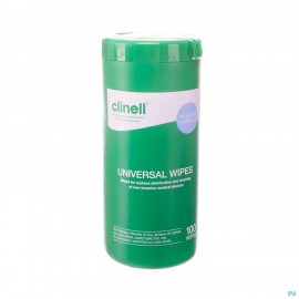 Clinell Universal Wipes Tub 100 Pcs