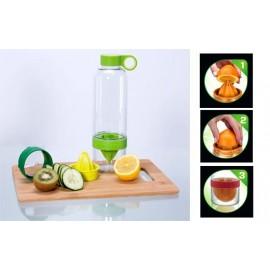 Presse agrume citrus zinger, bouteille avec infuseur