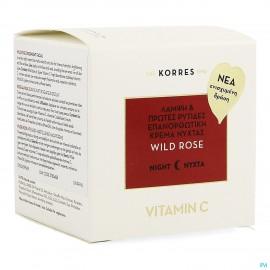 Korres Kf Rose Sauvage révélateur éclat Crème nuit 40ml