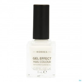 Korres Km Gel Effect Nail 01 Blanc White 11ml