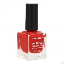 Korres Km Gel Effect Nail 53 Royal Red 11ml