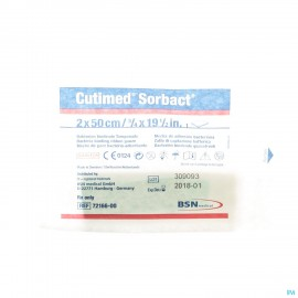Cutimed Sorbact Meches 2x50cm 1 7216600