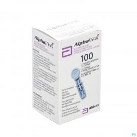Alphatrak Controle Glycemie Lancettes 100