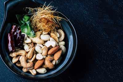 Vitamines avec les oléagineux